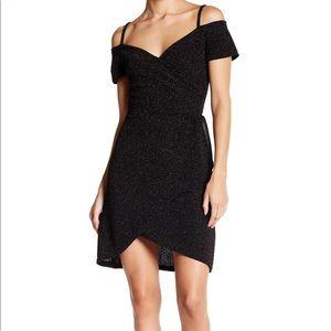 Angie Black Dress - Sweet 💕 Neckline Size S